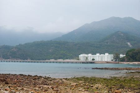 contradict: A resort like prison, Lantau, Hong Kong, China Stock Photo