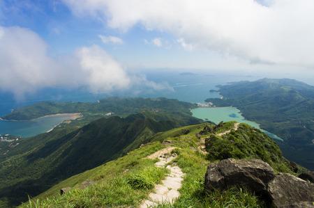 View from Lantau peak, Hong Kong, China 스톡 콘텐츠