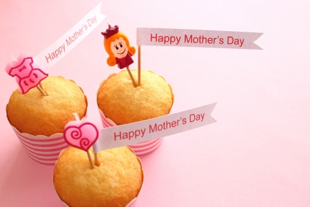 Mother s day cupcakes Stockfoto