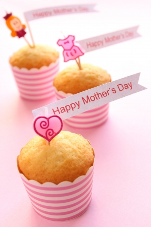 cup cakes: Mother s day cupcakes Stock Photo