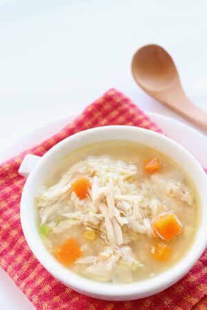 chicken, vegetable and rice soup