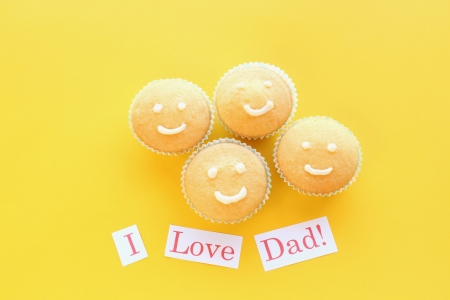 Fathers day cupcakes Stock Photo