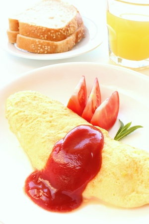 French omelet breakfast Stock Photo