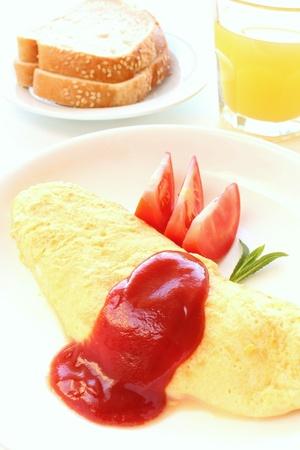 French omelet breakfast Stock Photo