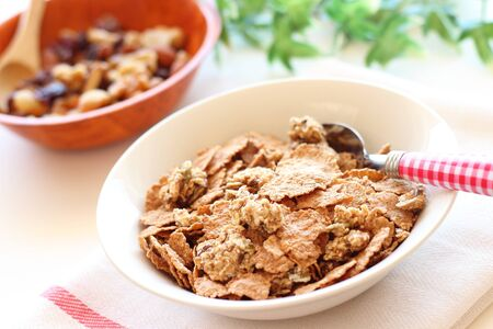 Healthy breakfast granola cereal photo