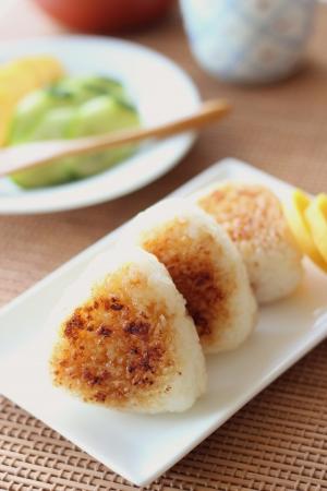 Japanese cuisine, Yaki Onigiri, rice ball Stock Photo