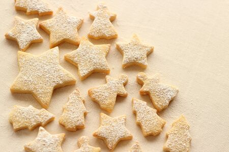 Christmas cookies on white background Stock Photo