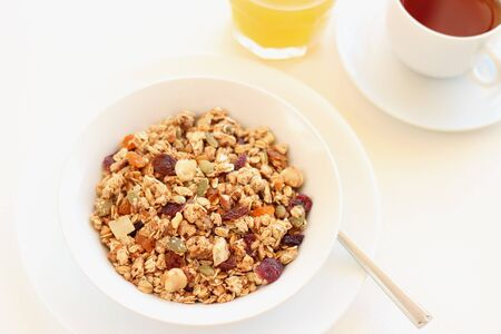 Dried fruits , nuts and seed Granola for healthy breakfast