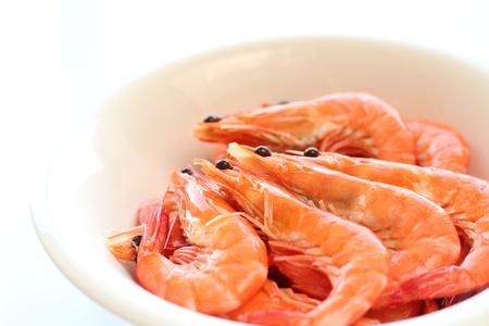 Boiled prawn