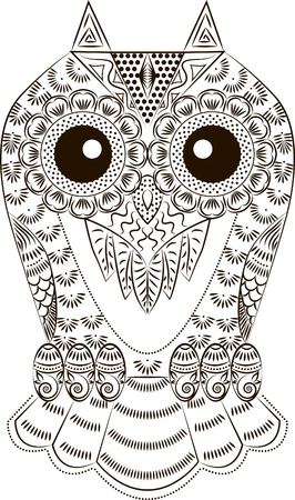 Pattern in the form of a fun owl