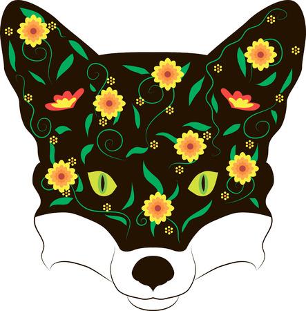 Illustration of a fox  Illustration