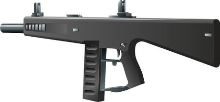 Vector illustration of automatic gun-AA-12 shotgun