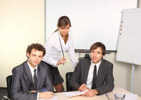 Business team working at office Stock Photo - 8496144