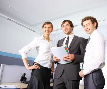 Business team working at office photo