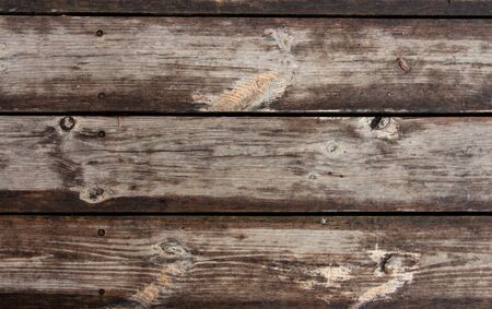 background of parallel wooden boards, Brown color, copy space Imagens