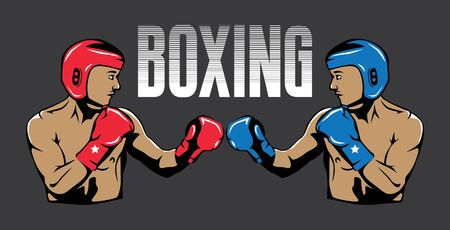 boxing characters illustration 向量圖像
