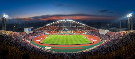 Bangkok, Thailand December 17,2016 At Rajamangala Stadium,Final AFF Suzuki Cup 2016 (Thailand-indonesia) in Bangkok twilight time on 1782016 Editorial