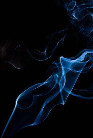 wisp: bosje van rook op zwart