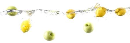 flottante, fruit, frontière Banque d'images