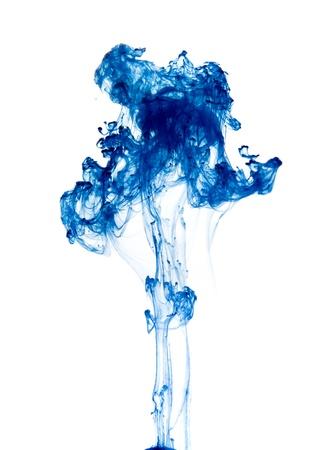 strange flora - drop of ink going through water Standard-Bild