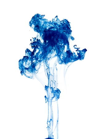 strange flora - drop of ink going through water Stock Photo