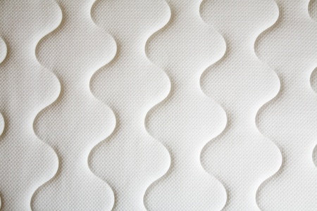 springy: brand new clean spring mattress surface