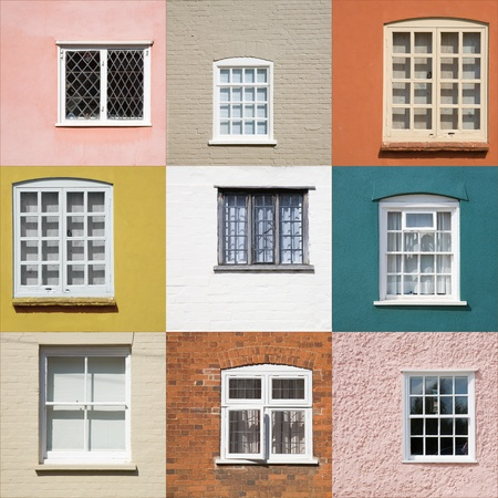collection of old windows