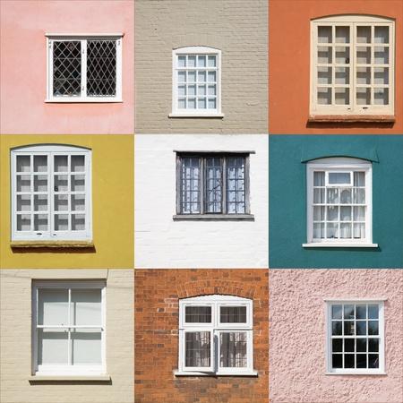 glasscheibe: Sammlung von alten Fenstern