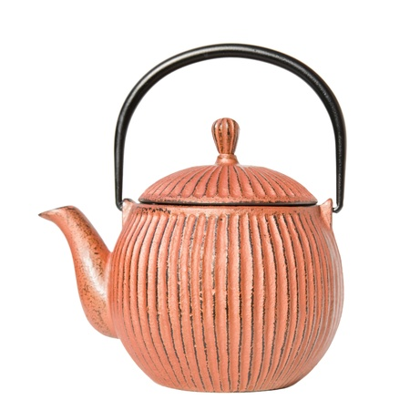 traditional japanese cast iron teapot photo