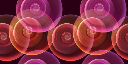 repeatable: seamless repeatable fractal backgroundin pink and red on black Stock Photo