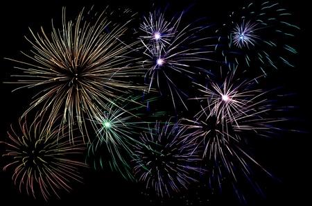 spectacular fireworks background 版權商用圖片