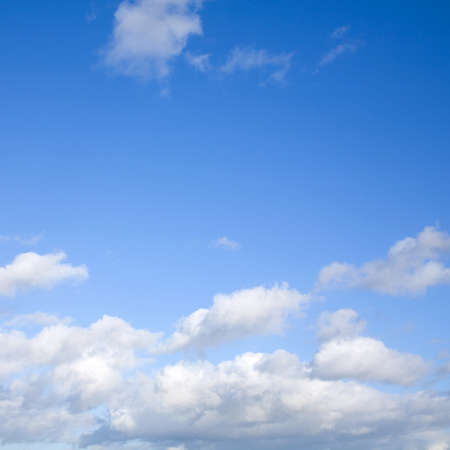 fleecy: square blue sly background with light clouds on the horizon