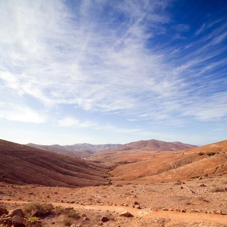 Fuerteventura, Canary Islands, view from Mirador de Guise y Ayose towards Betancuria Stock Photo - 11928803