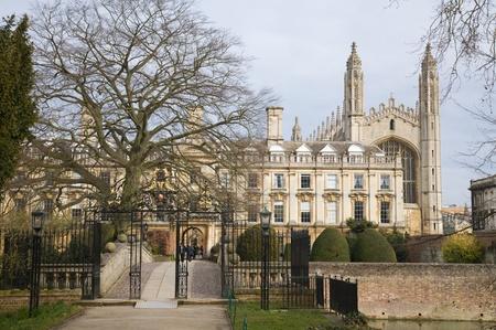 back gates and bridge in Clare college; Cambridge; England; Uk