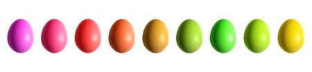 easter decorations: colorful easter eggs border