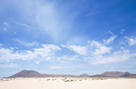 volcanic landscape: Fuerteventura, Canary Islands, Spain, volcanic landscape in natural reserve  Stock Photo