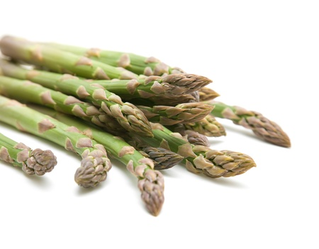 fresh asparagus spears isolated on white Reklamní fotografie