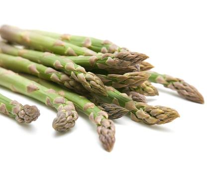 fresh asparagus spears isolated on white Standard-Bild