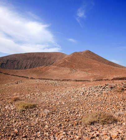 Path up Bayuyo volcano outside of Corralejo, Fuerteventura, Canary Islands, Spain