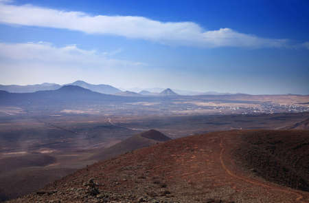 Northern Fuerteventura, view from  Bayuyo volcano towards Lajares photo
