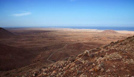Northern Fuerteventura, view from  Bayuyo volcano towards Majanicho