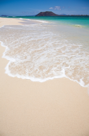 Northern Fuerteventura, view from Corralejo Flag Beach towards Isla de Lobos photo