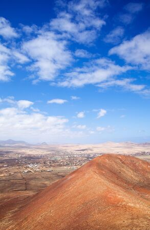 hondo: Northern Fuerteventura, Canary Islands, view towards Lajares Calderon Hondo