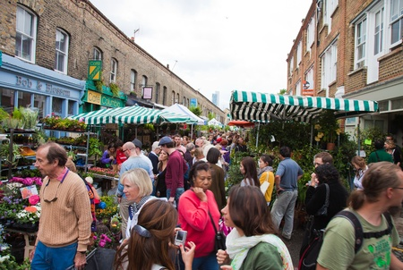 flower market: Columbia road flower market, London, UK
