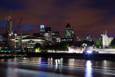 London  2012, City of London at dusk