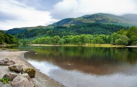 Loch Lubnaig, Scotland, summer scnery photo