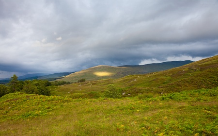 distant spot: scotland, summer lanscape
