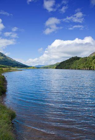 scottish summer landscape with lake Stock Photo - 15048085