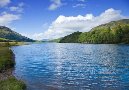 scottish summer landscape with lake Stock Photo - 15048092