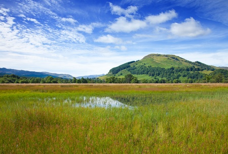 Marshy plain between Loch Tay and confluence of the rivers Dochart and Lochay Stock Photo - 15048058